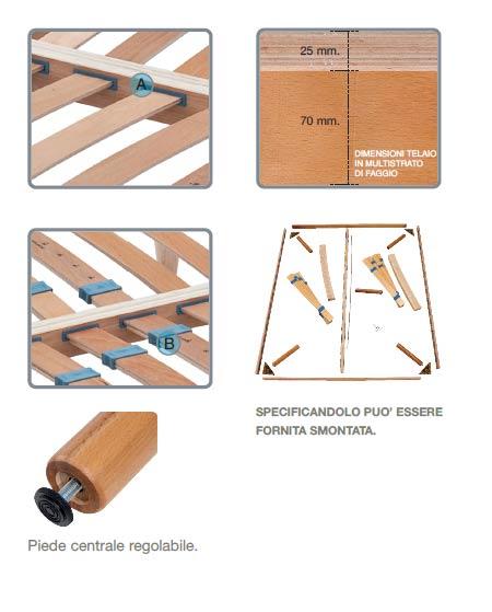 dettagli costruttivi della rete in legno Fidia della Castiflex